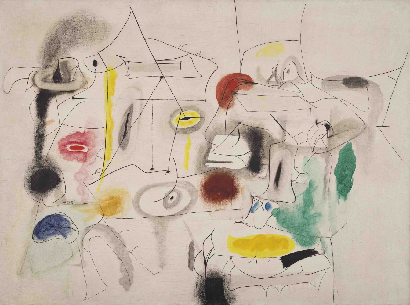 Child's Companion, a 1945 painting by Arshile Gorky.