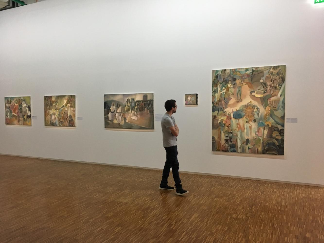 "Installation view, Sosa Joseph, ""Memories of the future: Indian modernities"", Centre Pompidou, France, 2017"