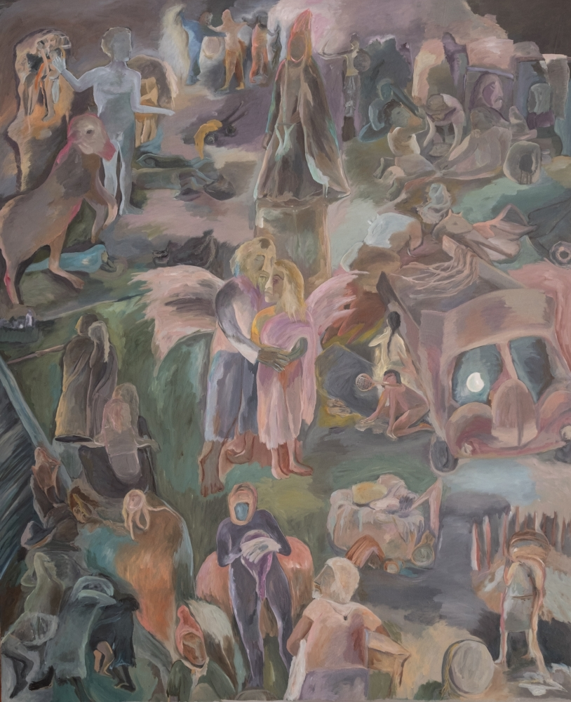 SOSA JOSEPH  Irul the Dark, 2015  Oil on canvas  72 x 60 in / 183 x 152.5 cm