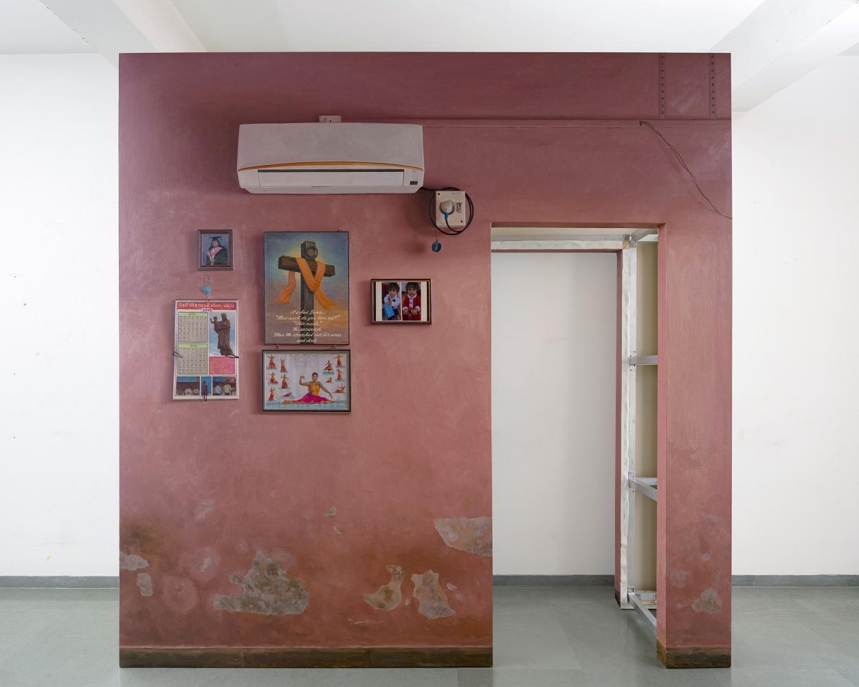ABIR KARMAKAR Passage 5, 2020  Oil on canvas  108 x 112 in / 274.3 x 284.5 cm  (Part 1 of Set 3)