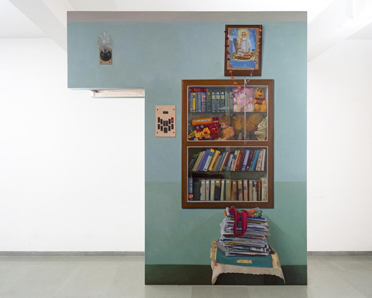 ABIR KARMAKAR Passage 2, 2020 Oil on canvas 108 x 100 in / 274.3 x 254 cm  (Part 2 of Set 1)