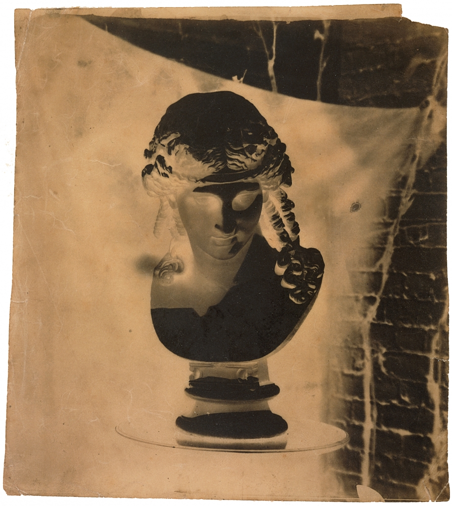 Benjamin Brecknell TURNER (English, 1815-1894) Bust of Dionysus, early 1850s Calotype negative, waxed 21.5 x 19.0 cm