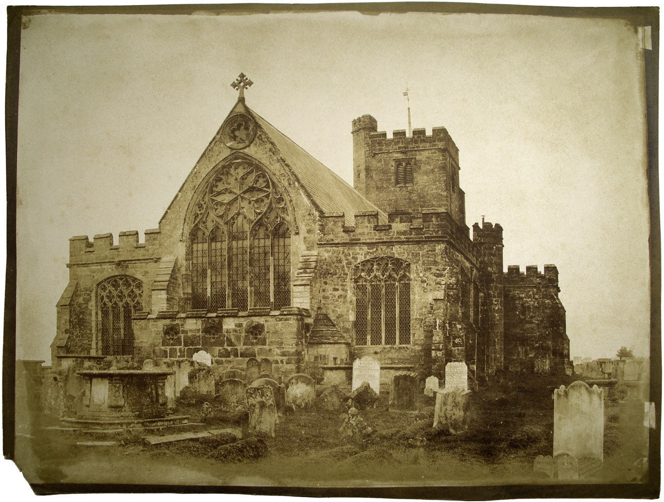 """Benjamin Brecknell TURNER (English, 1815-1894) East End """"Hawkhurst Church"""" Kent*, 1852-1854 Salt print from a waxed calotype negative 29.9 x 39.8 cm on 31.4 x 41.6 cm paper Titled """"Hawkhurst Church"""" in pencil on verso"""
