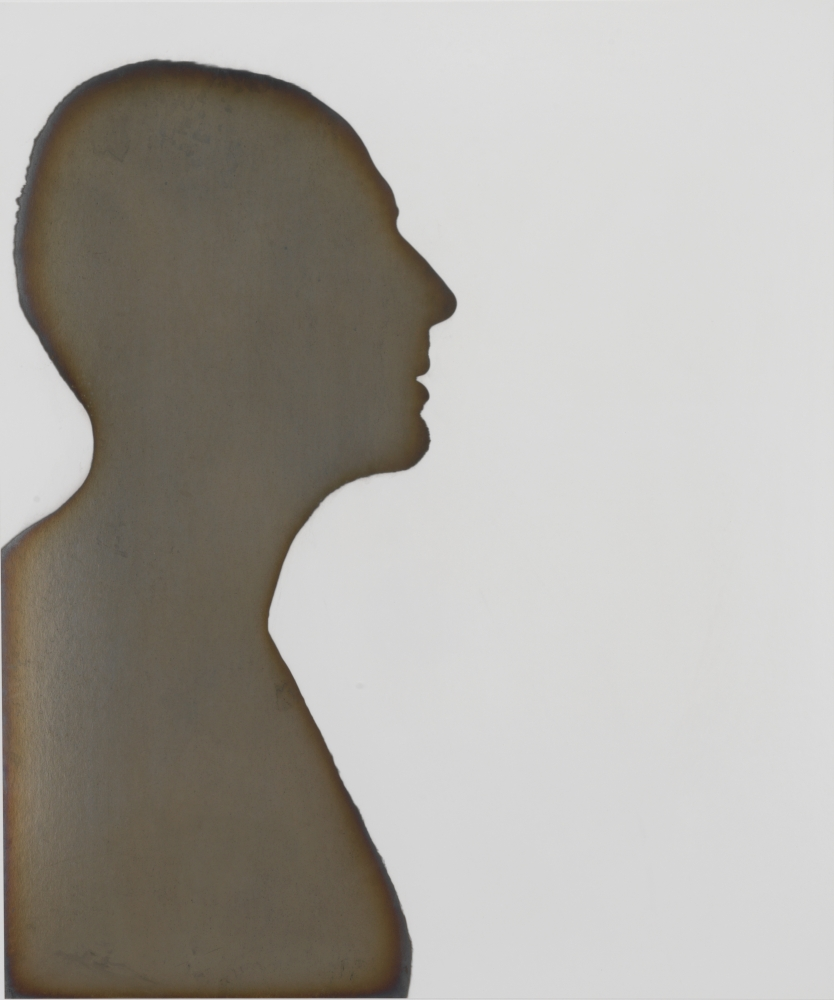 """Adam FUSS (American, born in England, b. 1961) Untitled silhouette, 1997 Toned silver print from a photogram 59.7 x 49.5 cm Signed and dated """"Adam Fuss, 1997"""" on label on verso"""