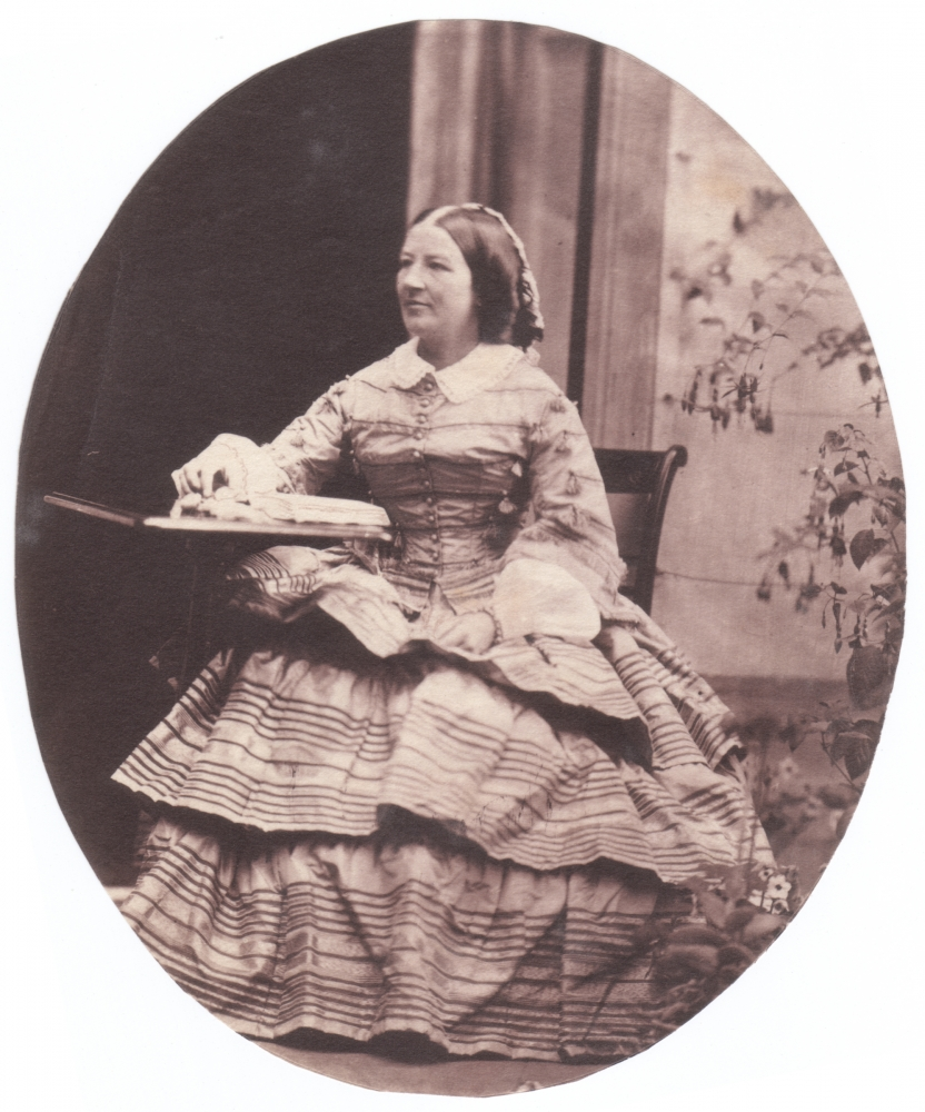 John Dillwyn LLEWELYN (Welsh, 1810-1882) Lady Emlyn (Sarah M. Cary Compton-Cavendish, d. 1881), 1850s Salt print from a collodion negative 7.7 x 8.9 cm, trimmed oval