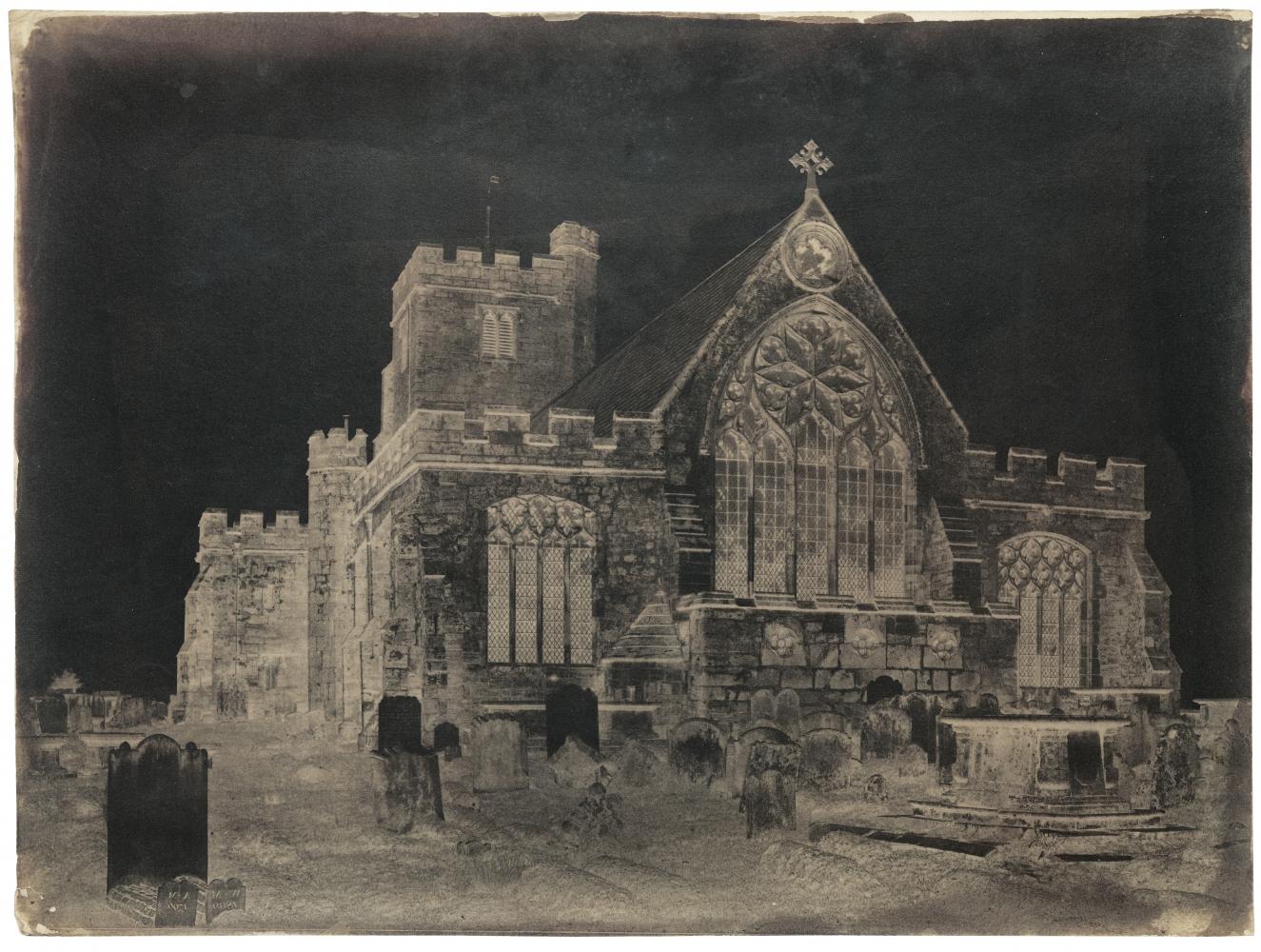 Benjamin Brecknell TURNER (English, 1815-1894) East end, Hawkhurst Church, Kent, 1852-1854 Waxed calotype negative 29.9 x 39.8 cm