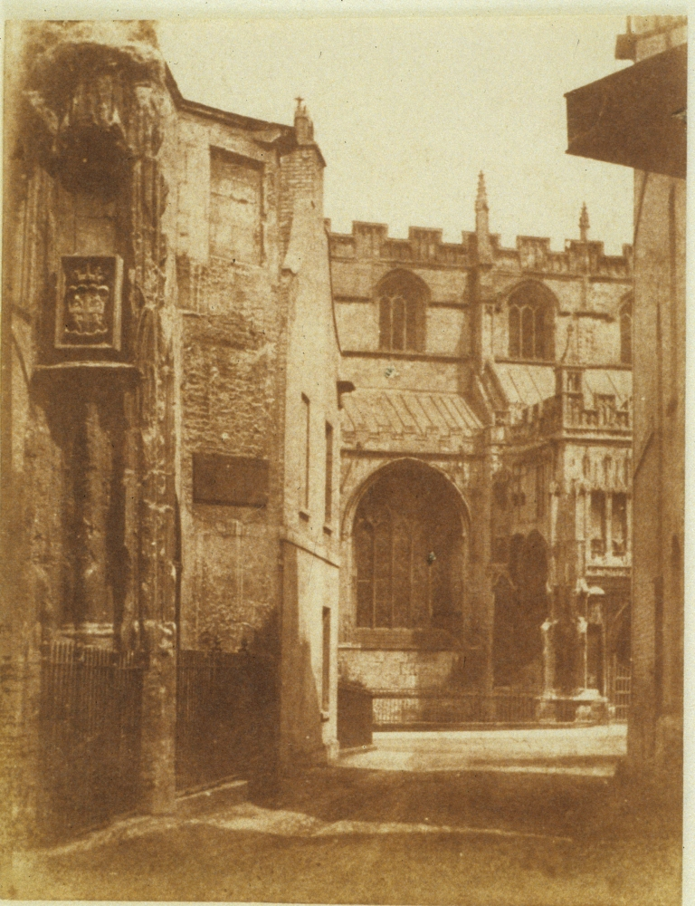 Hugh OWEN (English, 1808-1897) Street scene, Bristol, circa 1850 Salt print from a calotype negative 10.3 x 7.9 cm