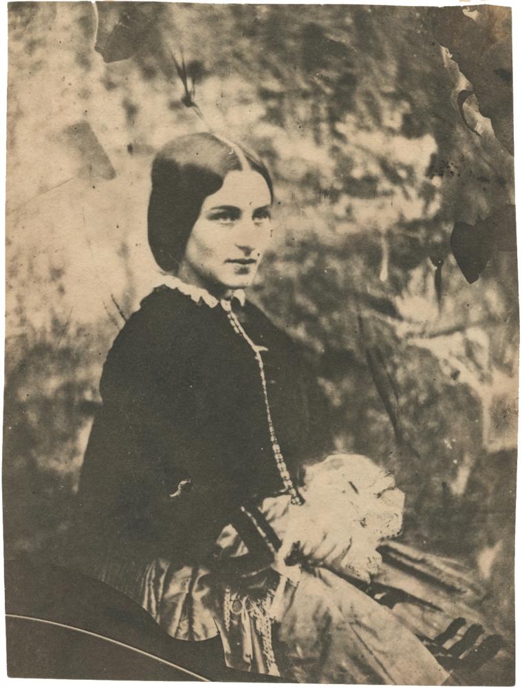 Nevil STORY-MASKELYNE (English, 1823-1911) Zoe Thompson, early 1850s Salt print from a mica negative 14.0 x 11.5 cm