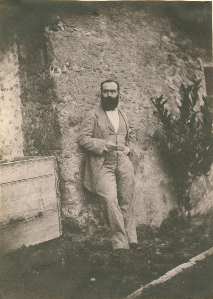 Charles NÈGRE (French, 1820-1880) Portrait of a bearded man, Grasse, circa 1852-1855 Salt print from a waxed paper negative 19.2 x 14.0 cm