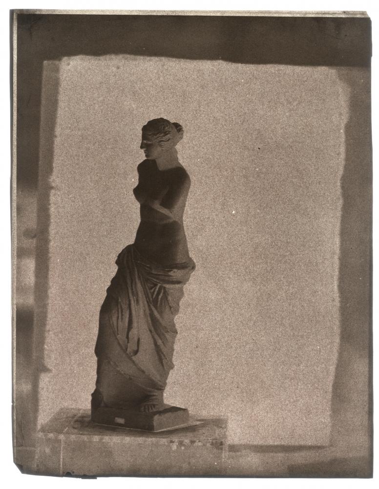John Beasley GREENE (American, born in France, 1832-1856) Venus de Milo on rooftop in Paris, 1852-1853 Waxed paper negative 31.2 x 24.3 cm