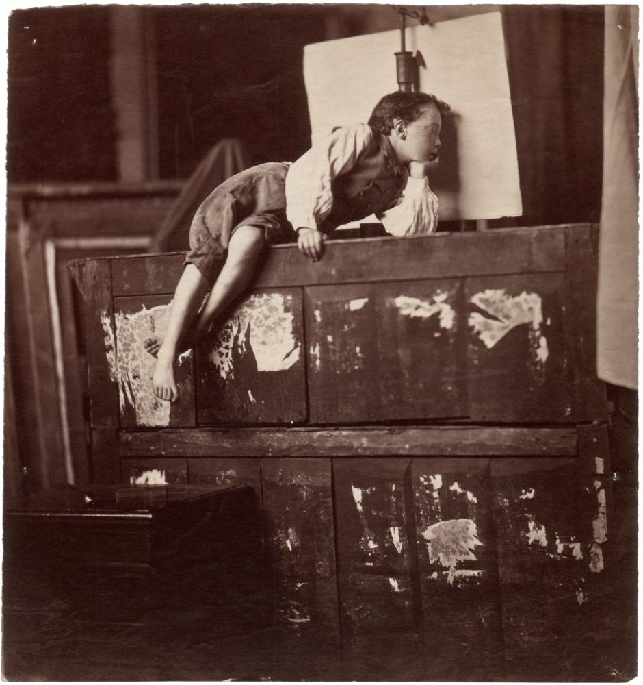 Edmond LEBEL (French, 1834-1908) Edmond Albert Lebel, son of the artist, 1872 Albumen print from a collodion negative 19.6 x 18.6 cm