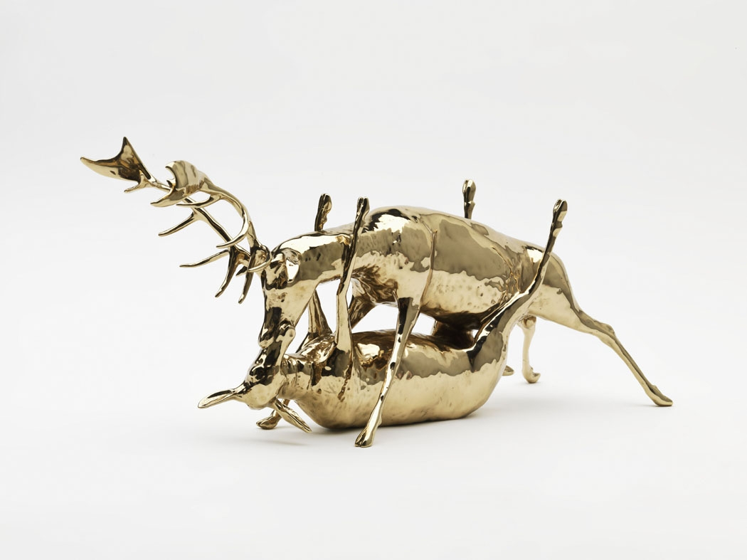 two elk having sex in the missionary position