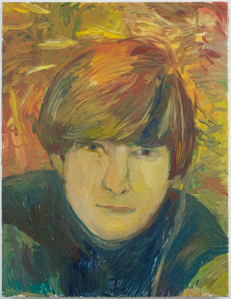colorful oil on linen painting of John Lennon