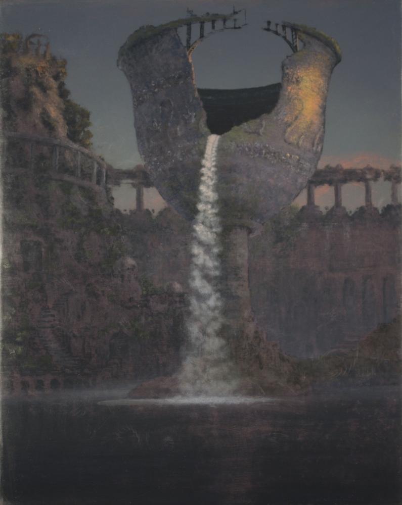 Stephen Hannock work depicting Titan's Goblet leaking water.