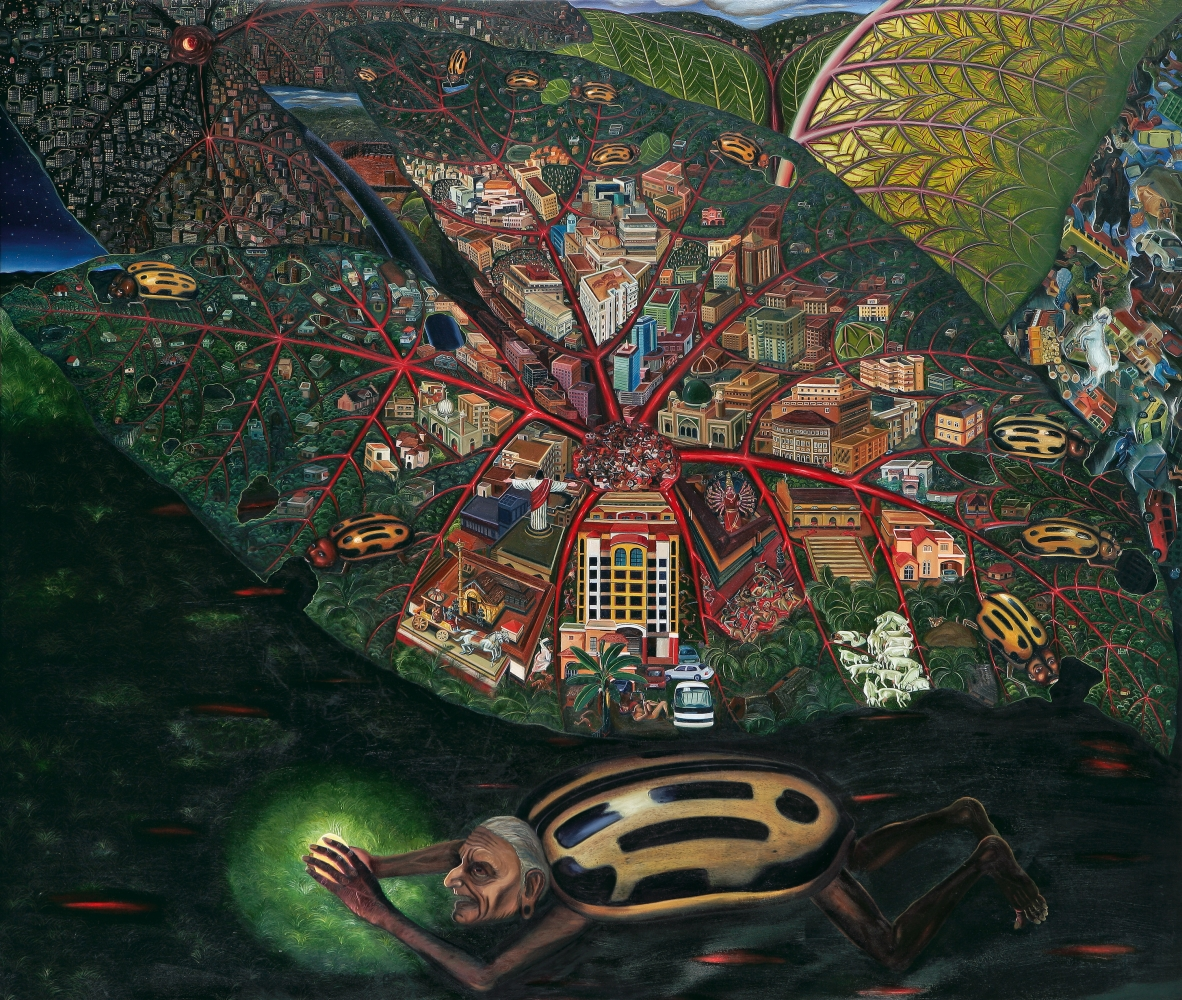 RATHEESH T., Motherland, 2007, oil on canvas, 183 x 214 cm / 72 x 84 in