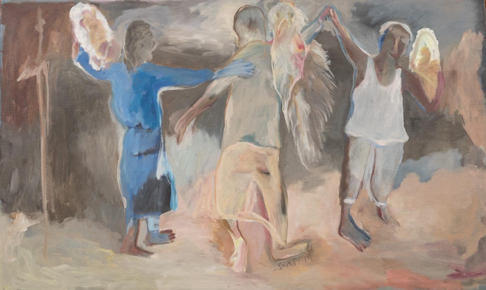 Sosa Joseph Three Men, 2015, oil on canvas, 91.4 x 122 cm / 36 x 48 in