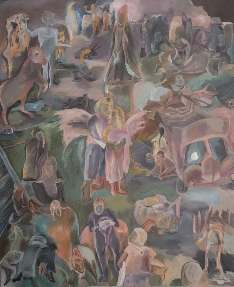 Sosa Joseph Irul (the Dark), 2015, oil on canvas, 183 x 152.5 cm  / 72 x 60 in