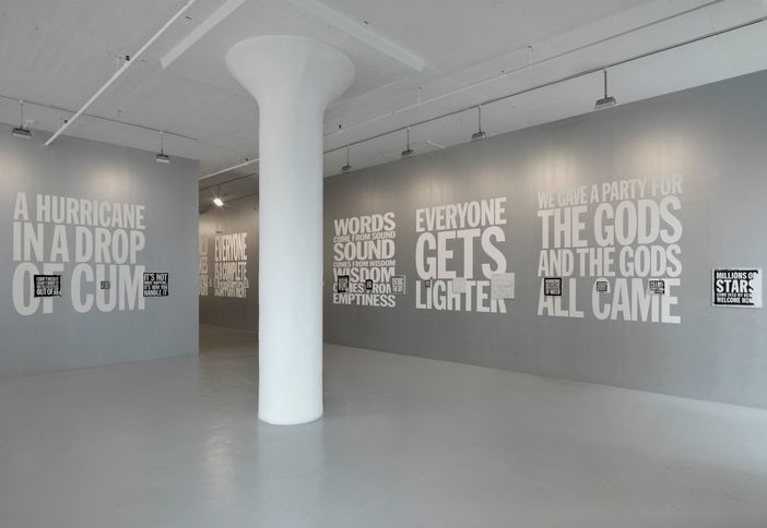 Installation view of Black Paintings and Drawings at Nicole Klagsbrun Gallery, 2010