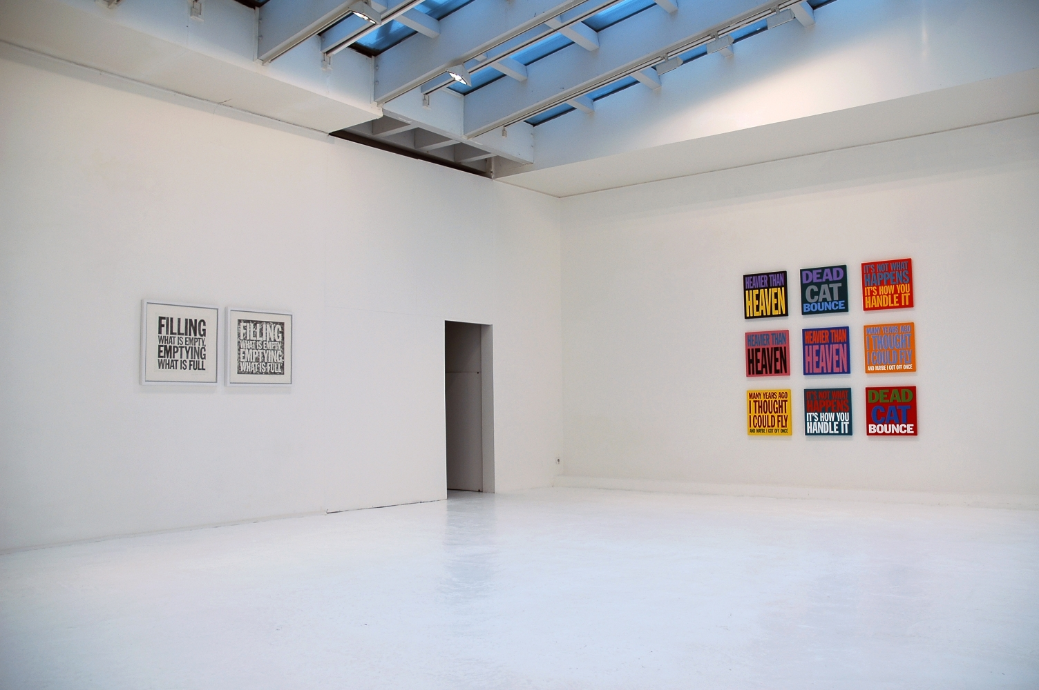 Installation view of Millions Of Stars Come Into My Heart, Welcome Home at Galerie du Jour agnès b., 2005