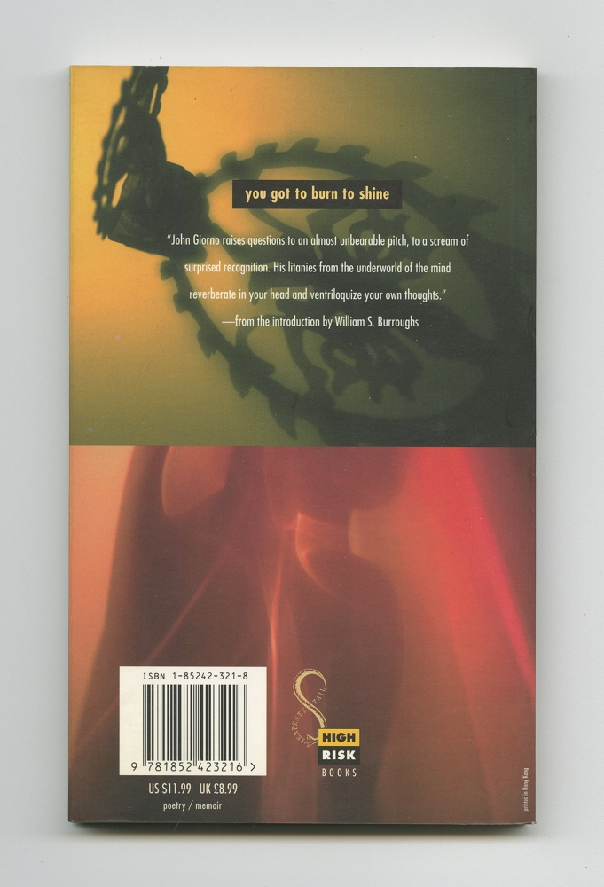 You Got To Burn To Shine, 1994 (7) – Back cover