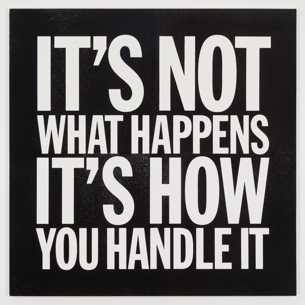 John Giorno, IT'S NOT WHAT HAPPENS IT'S HOW YOU HANDLE IT, 2014
