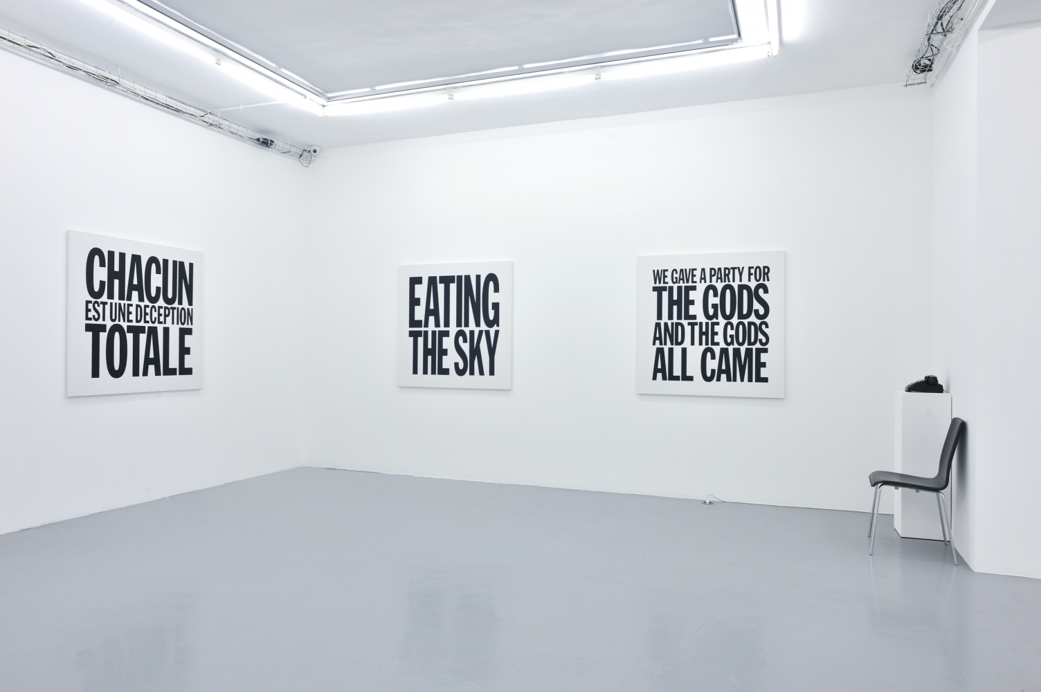 Installation view of John Giorno's Paintings at Almine Rech Gallery, 2012