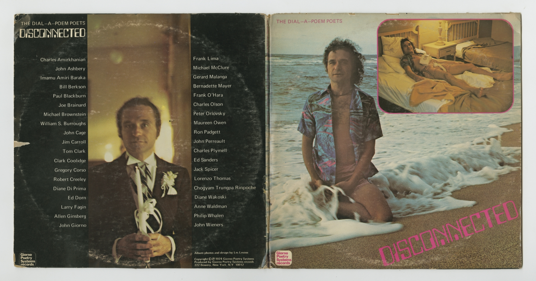 The Dial-A-Poem Poets: Disconnected (1974), front and back covers