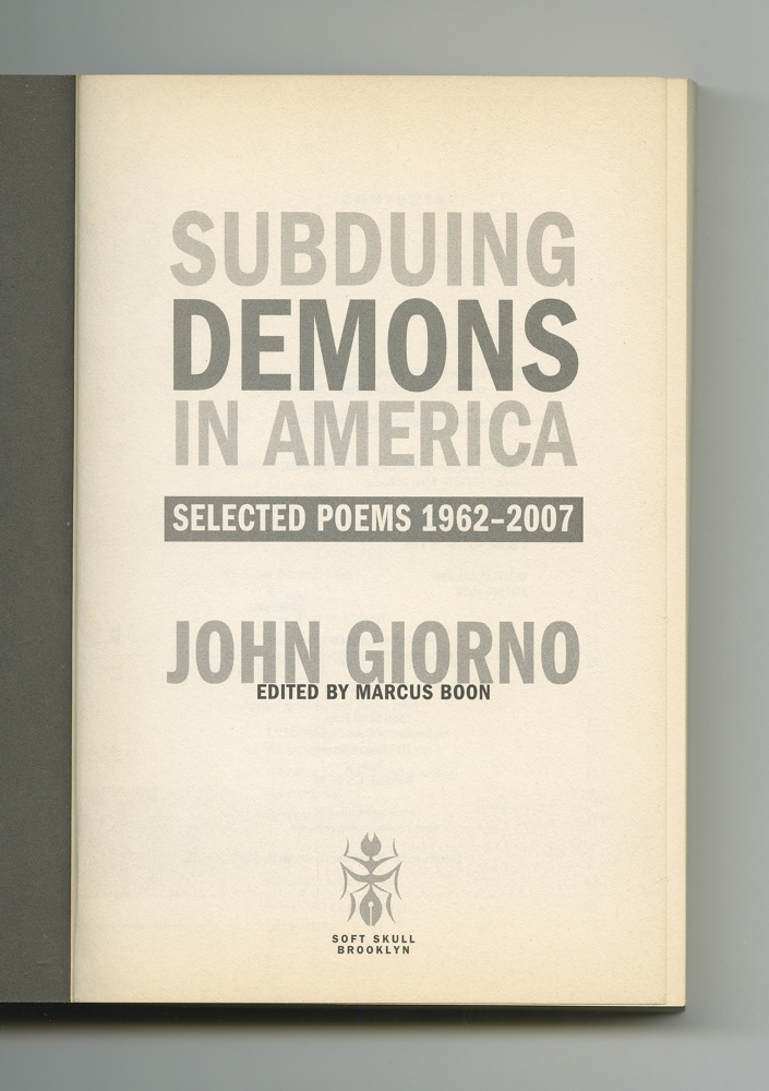 Subduing Demons in America, 2007 (4) –Title page