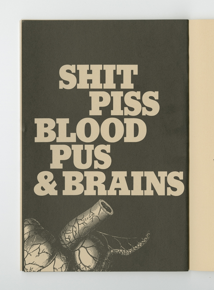 Shit, Piss, Blood, Pus, and Brains, 1977 (10) – Title Artwork