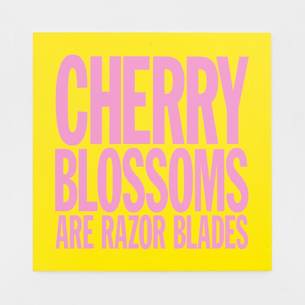 John Giorno, CHERRY BLOSSOMS ARE RAZOR BLADES, 2017