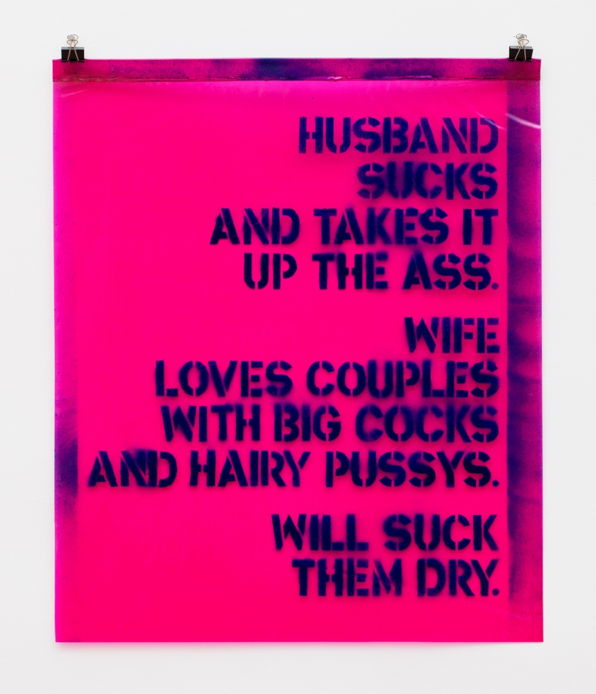Window Curtain Poem: Will Suck Them Dry, 1969