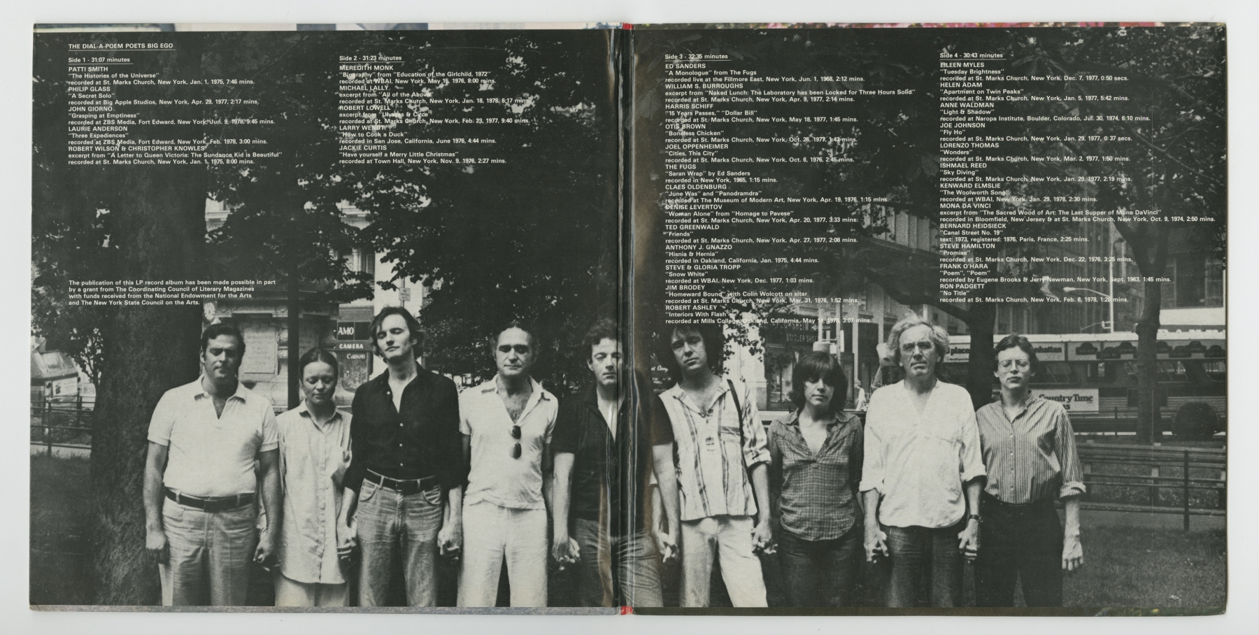 The Dial-A-Poem Poets: Big Ego (1978), inside spread