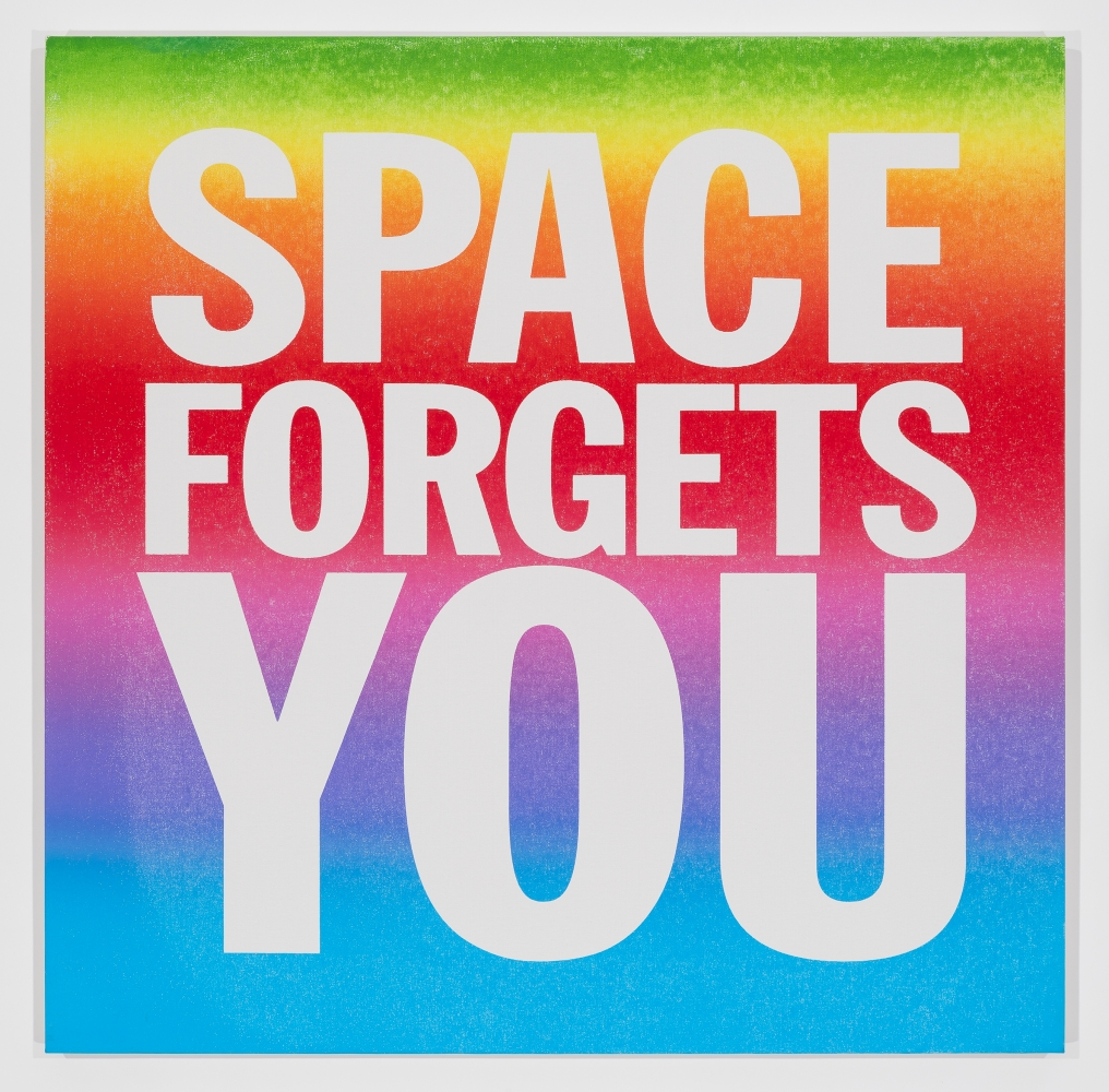John Giorno, SPACE FORGETS YOU, 2016