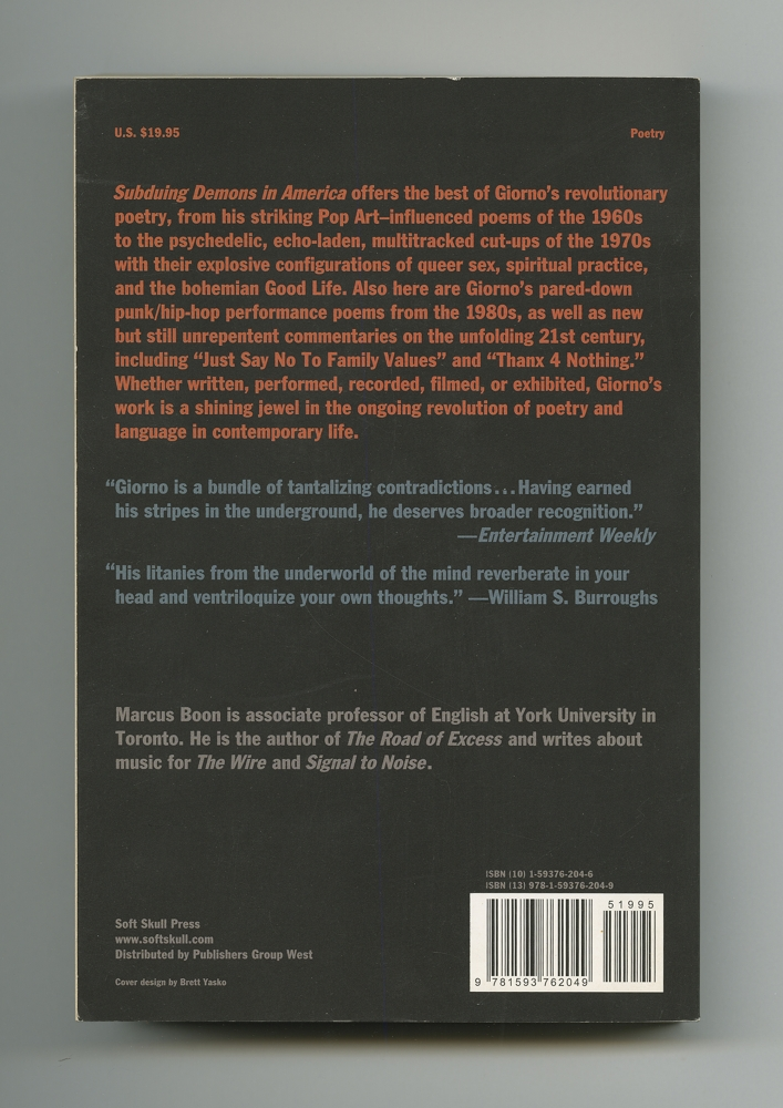 Subduing Demons in America, 2007 (9) – Back cover
