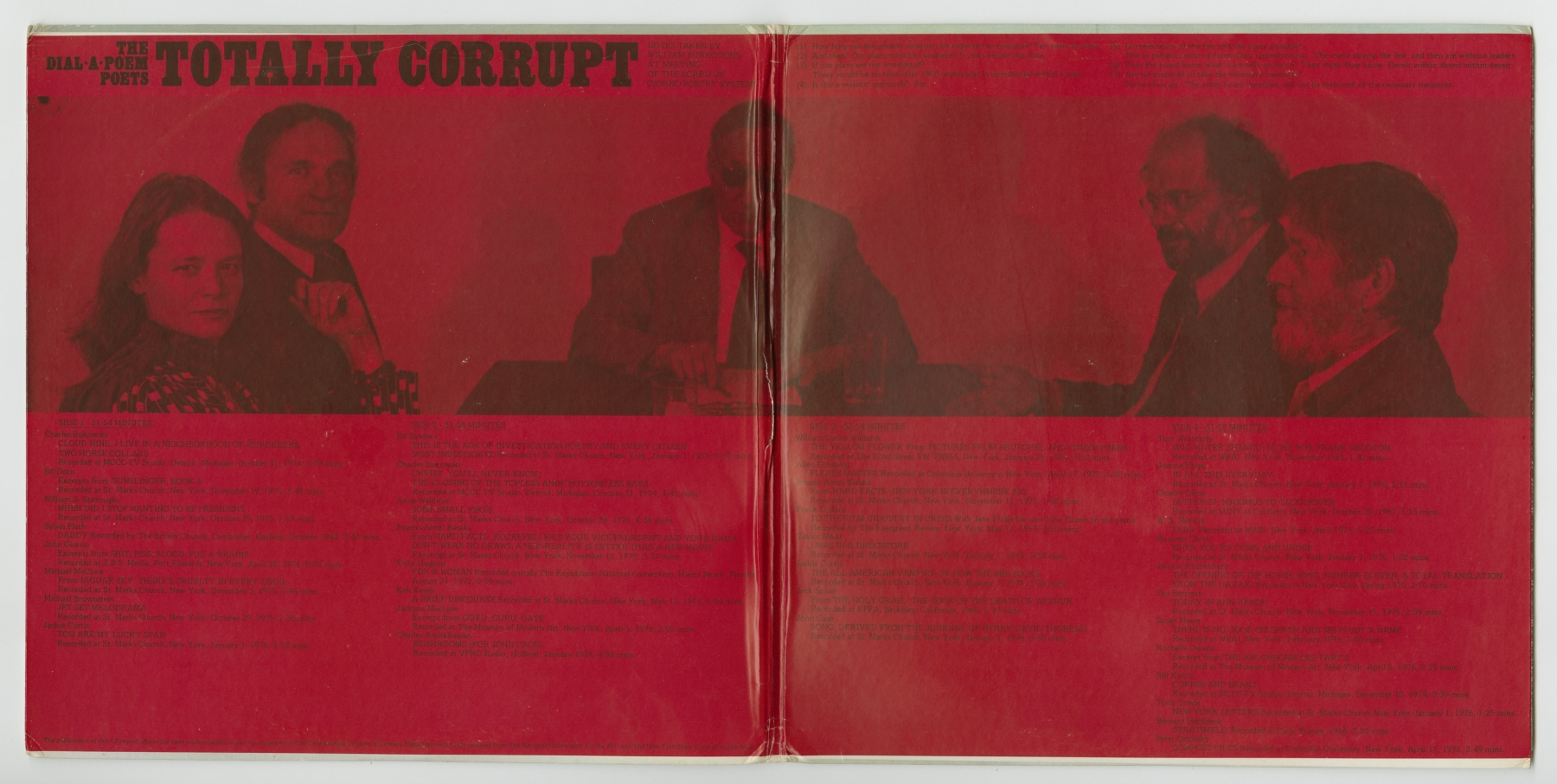 The Dial-A-Poem Poets: Totally Corrupt (1976), inside spread