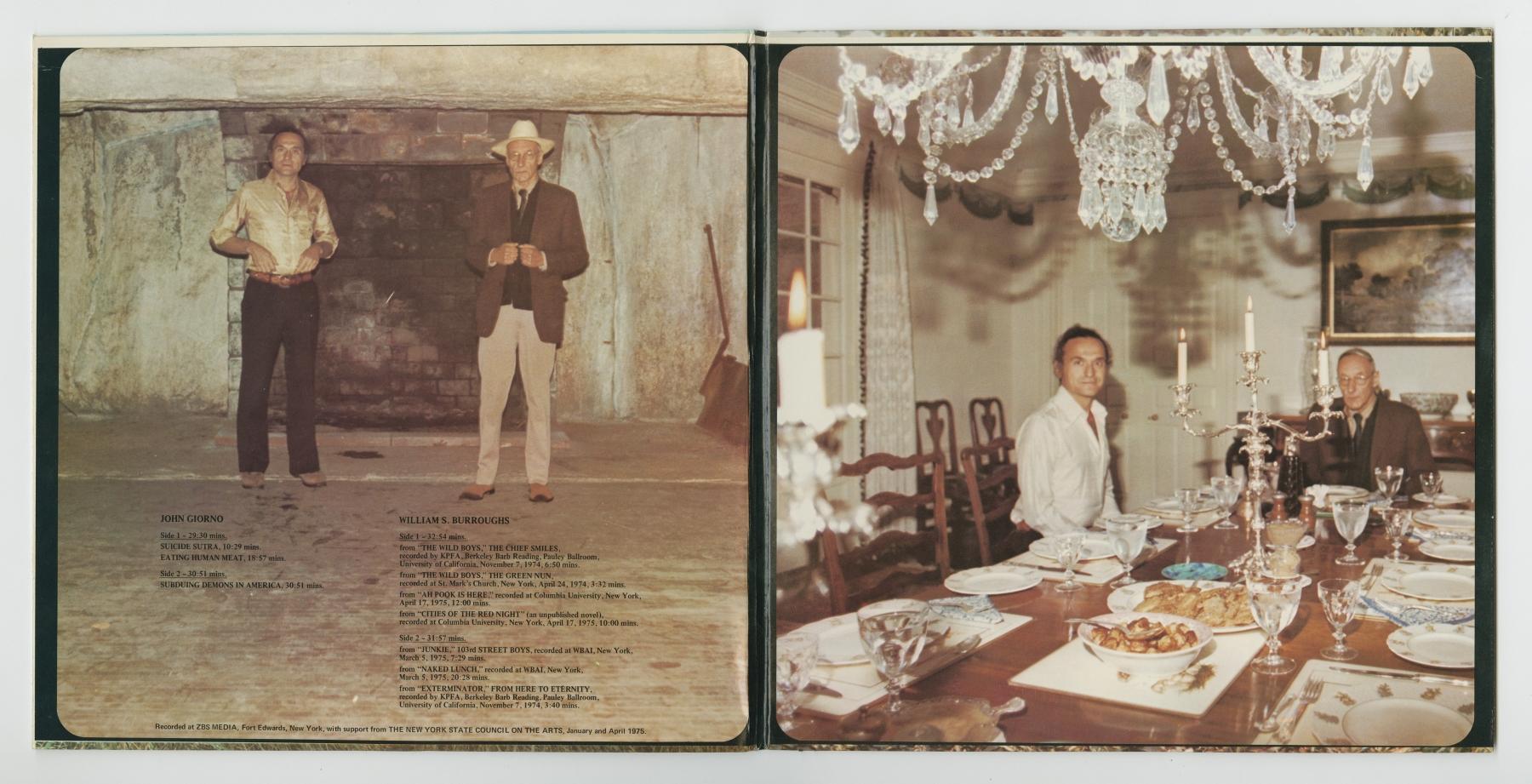 William S. Burroughs / John Giorno: A D'Arc Press Selection (1975), inside spread
