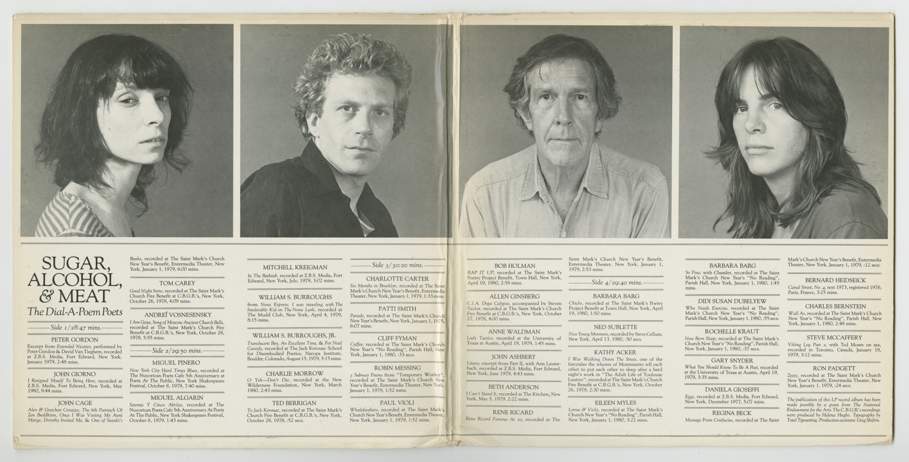 The Dial-A-Poem Poets: Sugar, Alcohol, & Meat (1980)