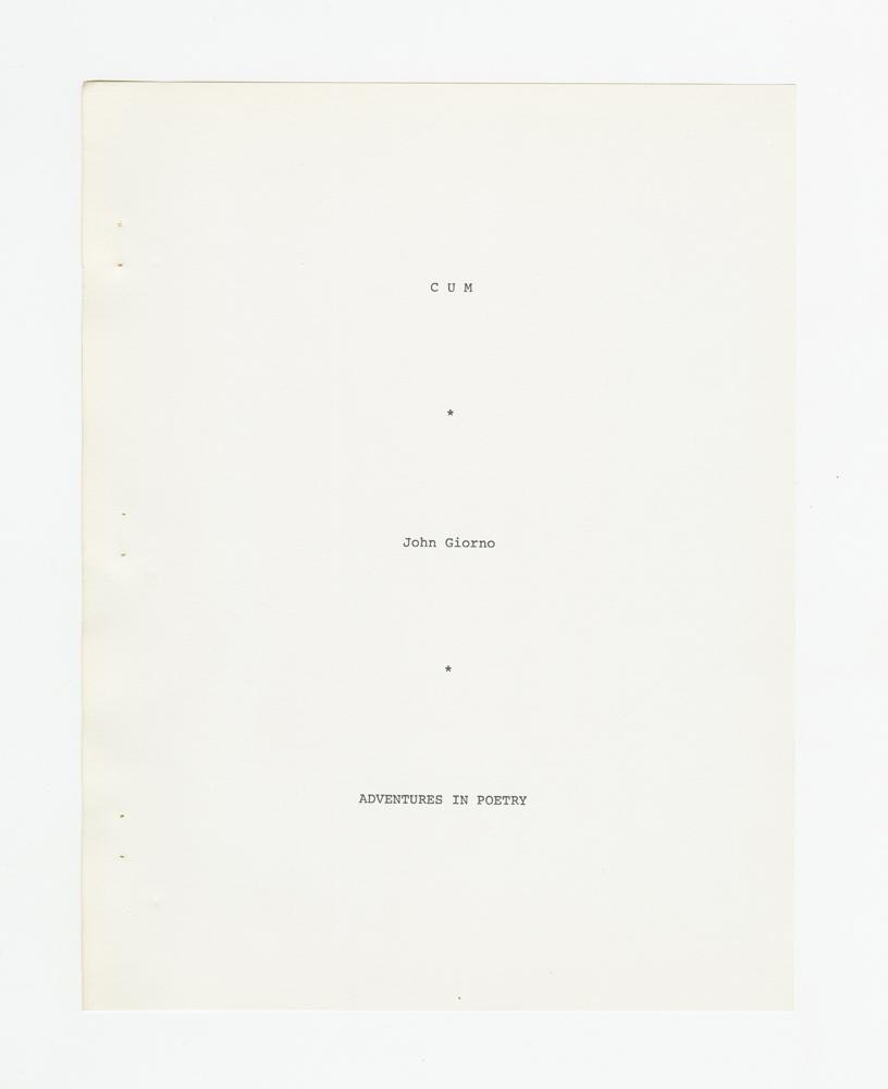 Cum, 1971 (2)