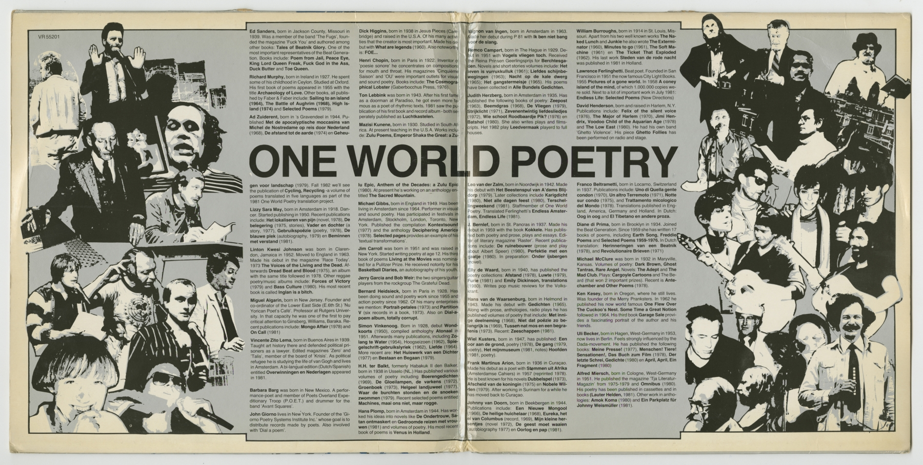 One World Poetry Live from Amsterdam (1981), inside spread