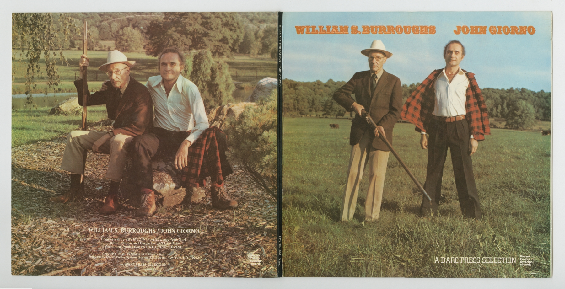 William S. Burroughs / John Giorno: A D'Arc Press Selection (1975), front and back cover