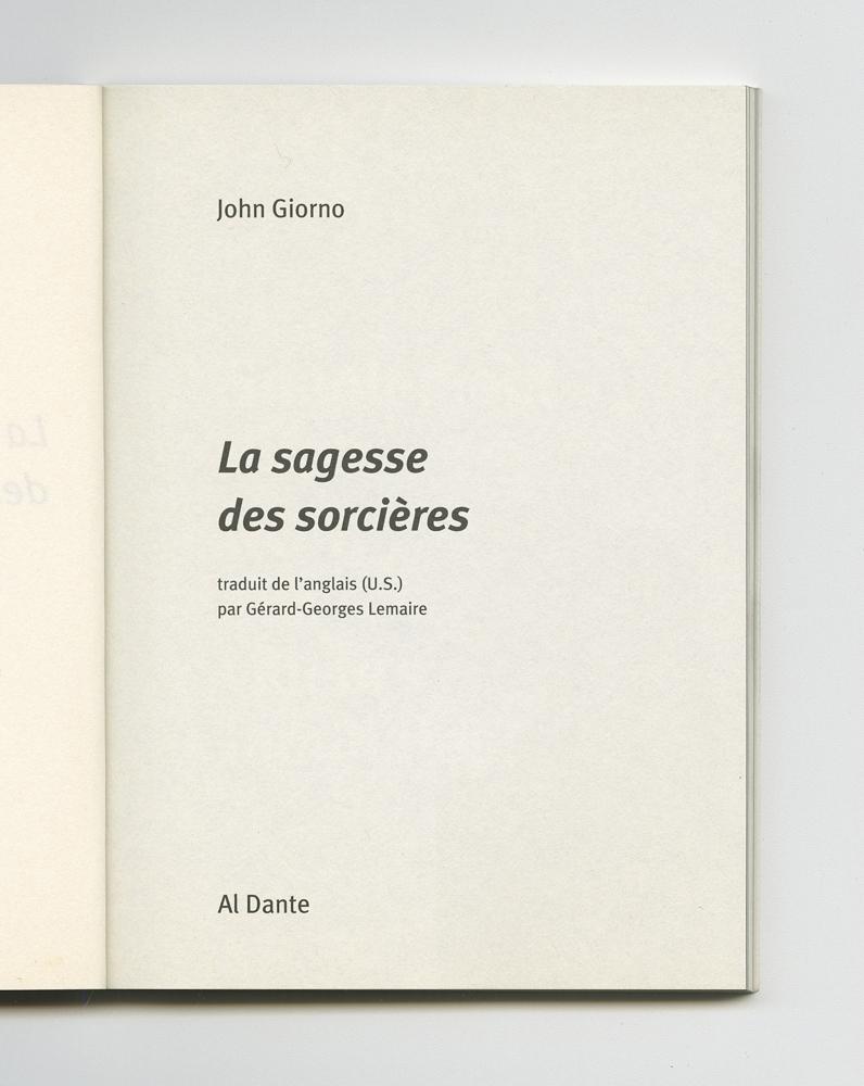 La sagesse des sorcières, 2004 (4) – Title page