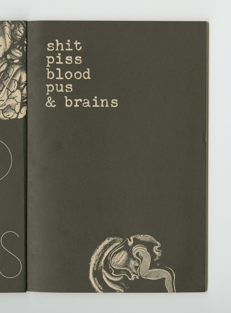 Shit, Piss, Blood, Pus, and Brains, 1977 (9) – Title Artwork
