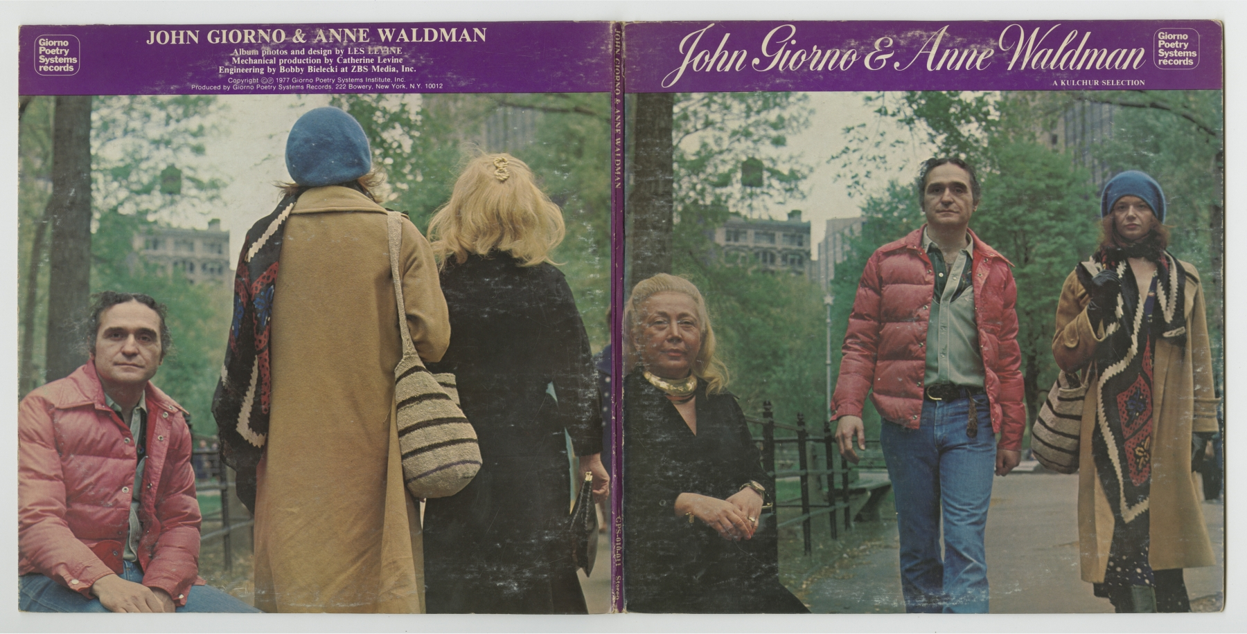 John Giorno and Anne Waldman: A Kulchur Selection (1977), front and back covers