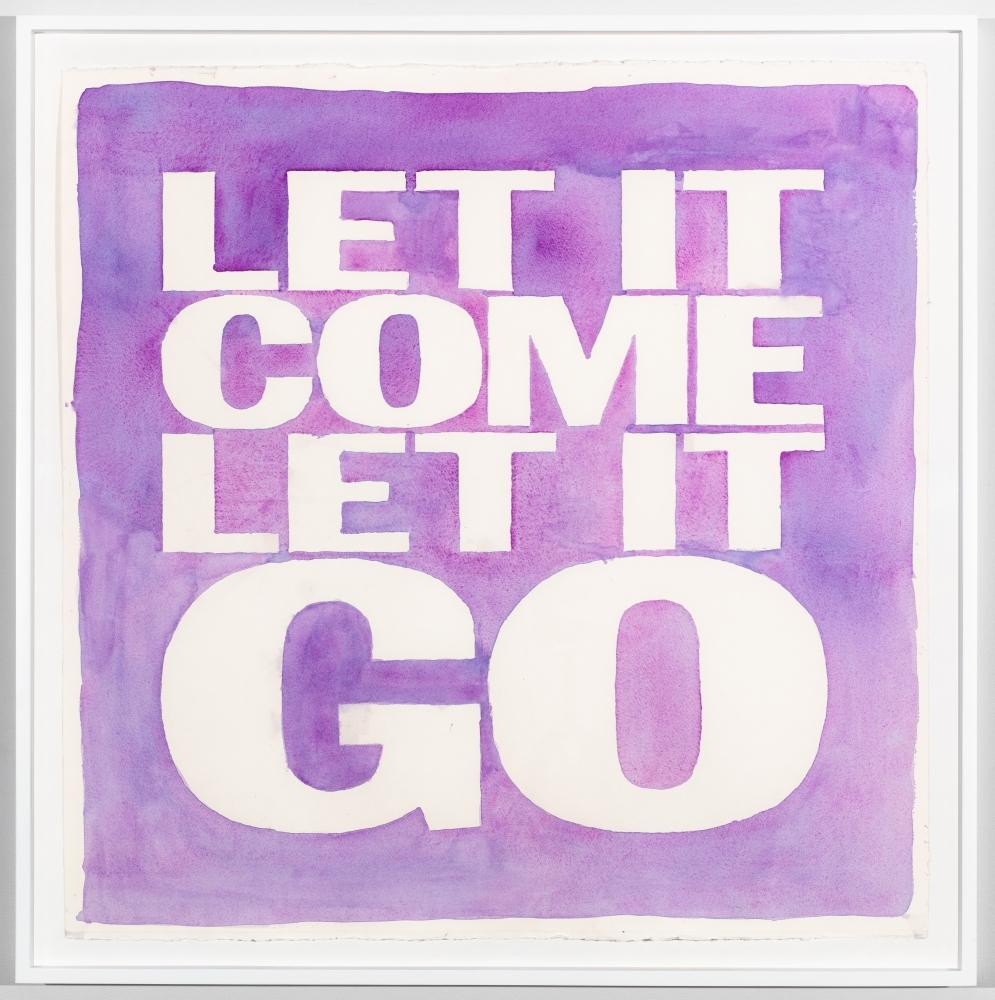 John Giorno, LET IT COME LET IT GO, 2017
