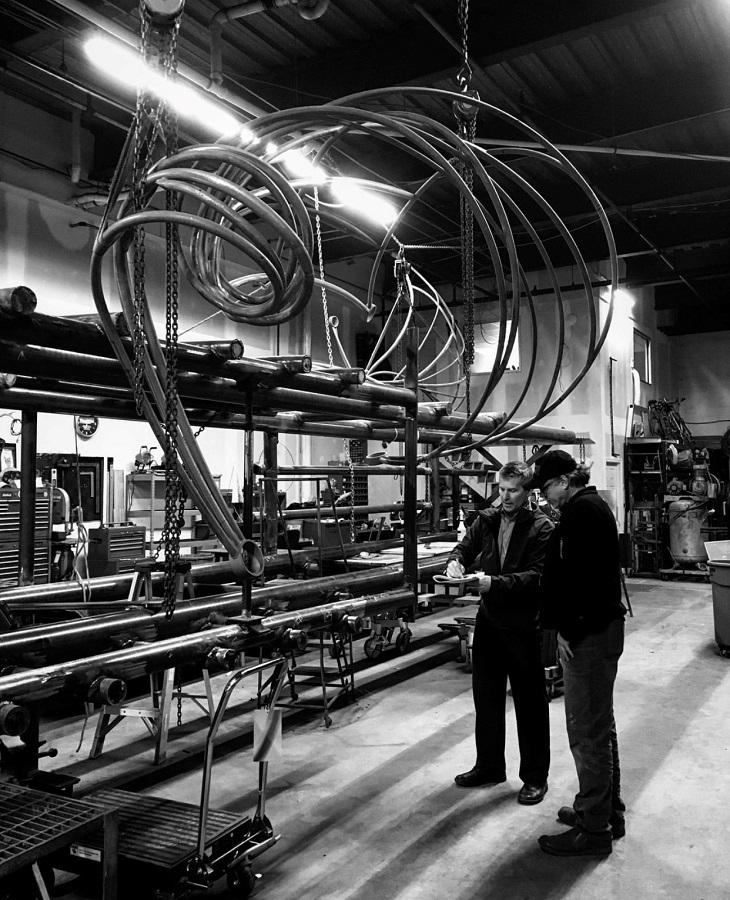 Image taken during fabrication