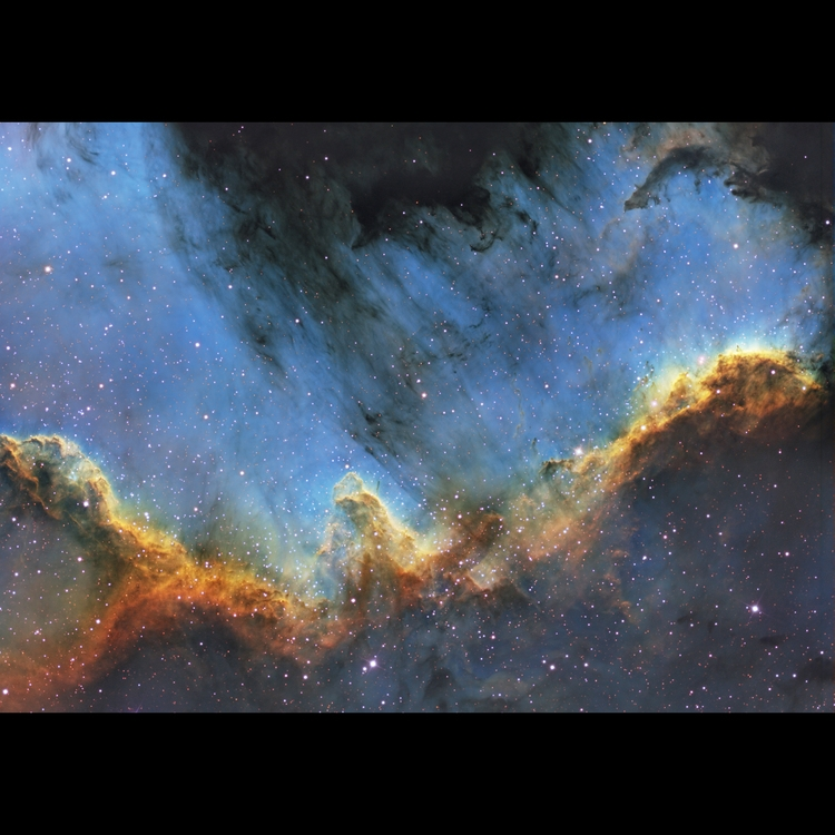 image of gas and dust in space photo by Bill Snyder