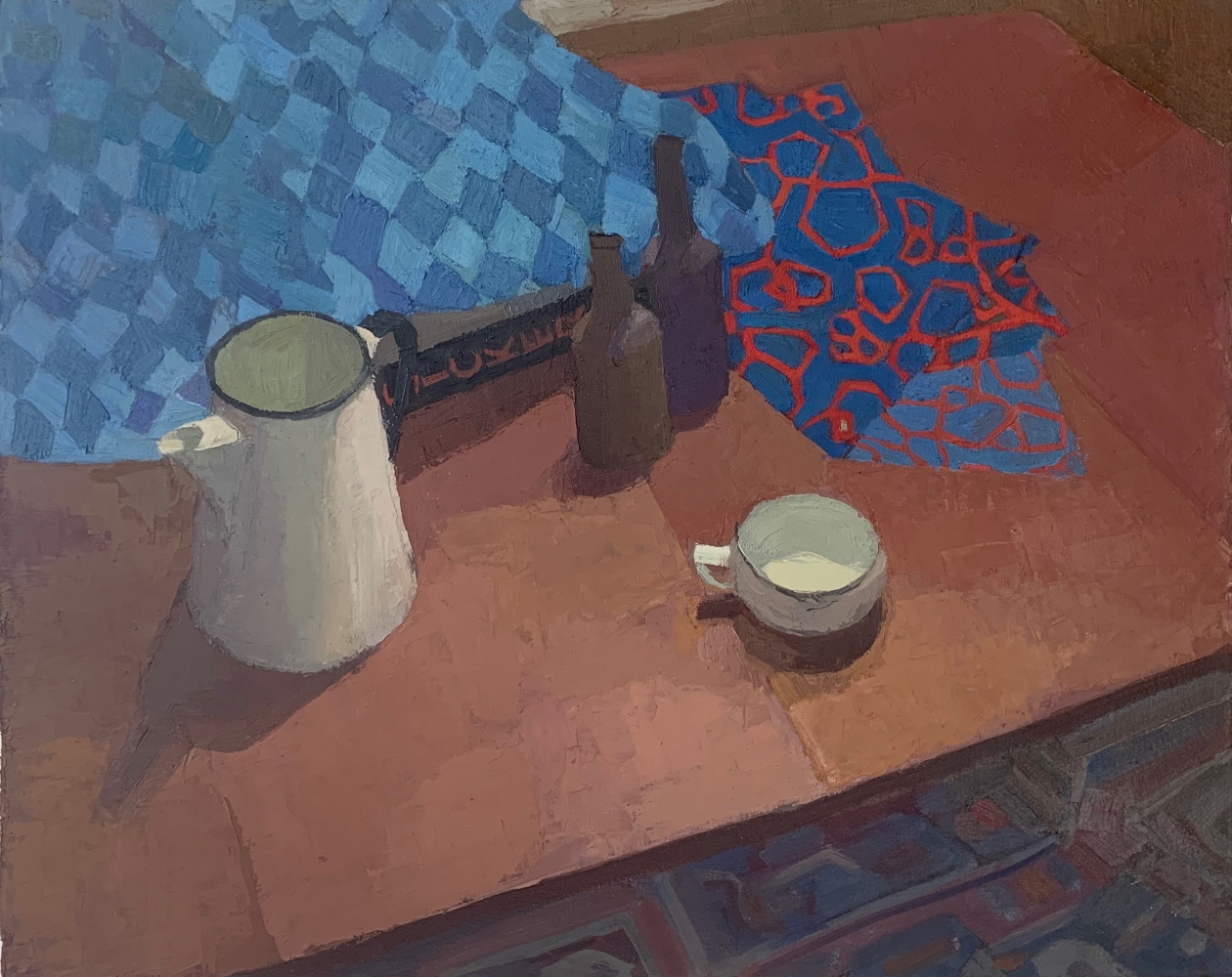 """Dining Room Table  20"""" x 25""""  Oil On Canvas Mounted On Board"""