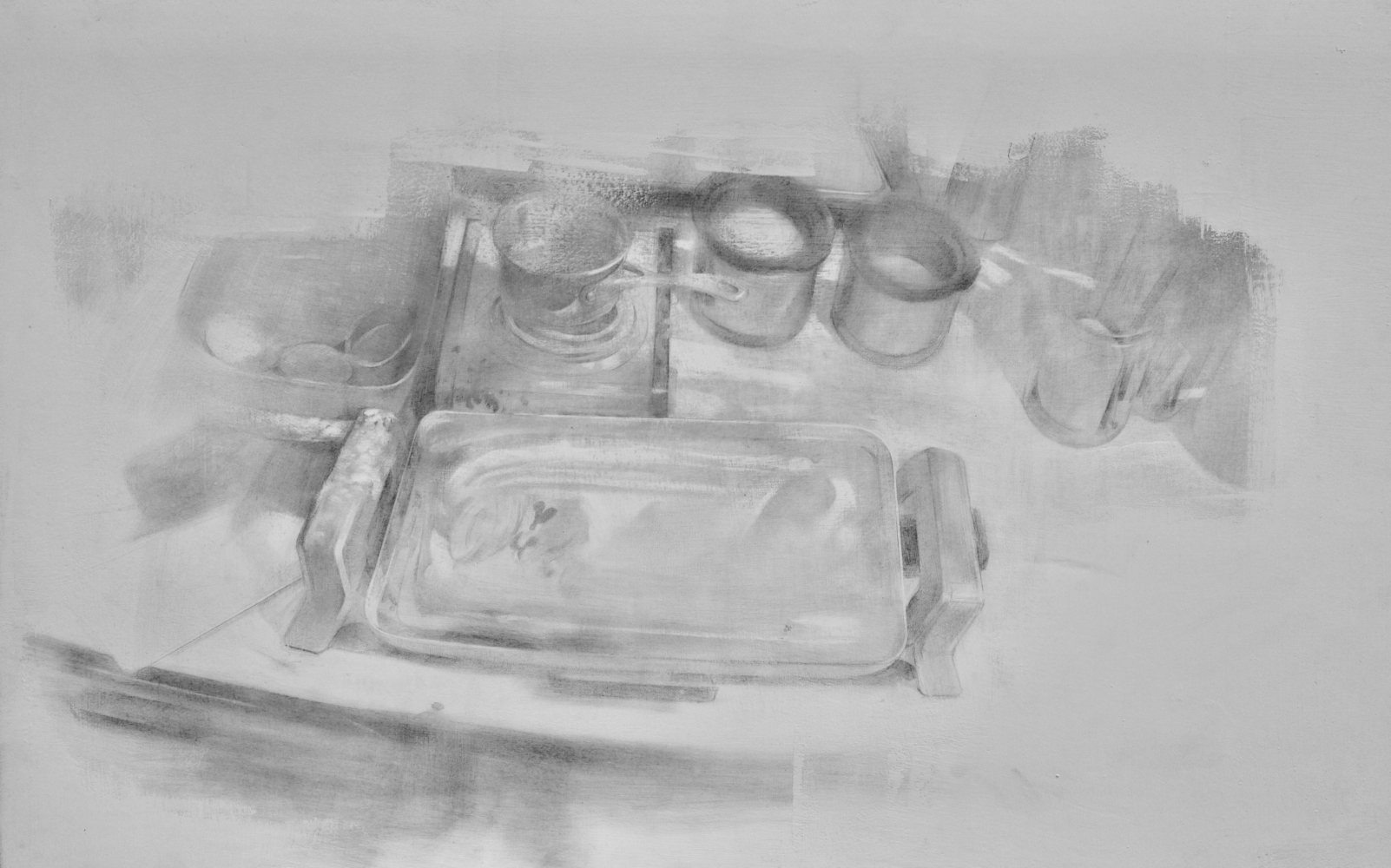 """Some Tools  20"""" x 32""""  Silverpoint"""