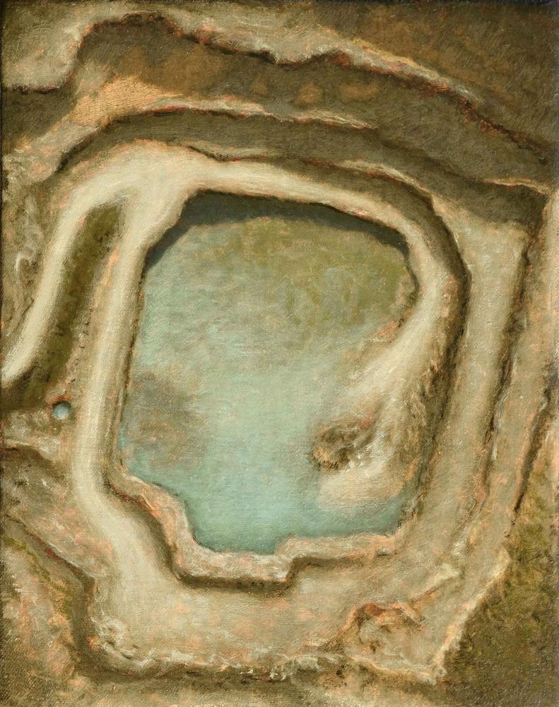 "Quarry Study Gettysburg  11.5"" x 9""  Oil On Panel"