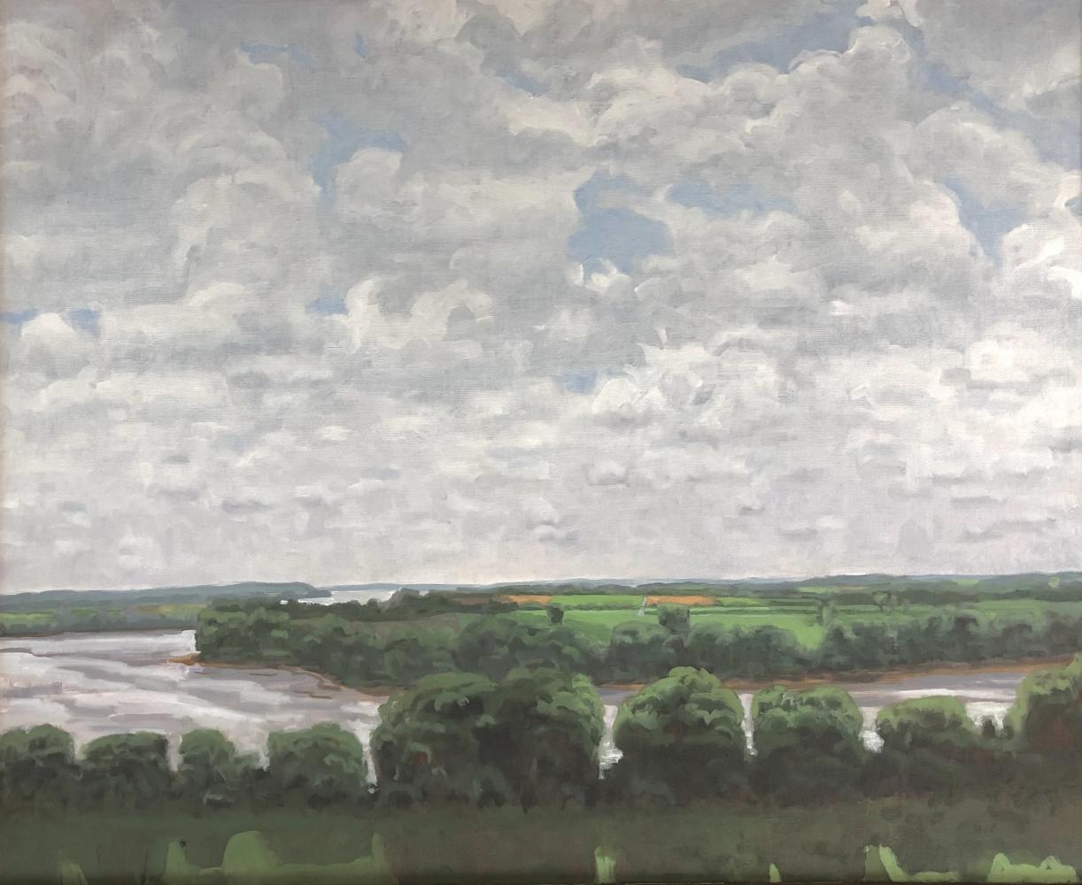 "Summer Bottomlands, 22"" x 32""  Oil On Canvas"